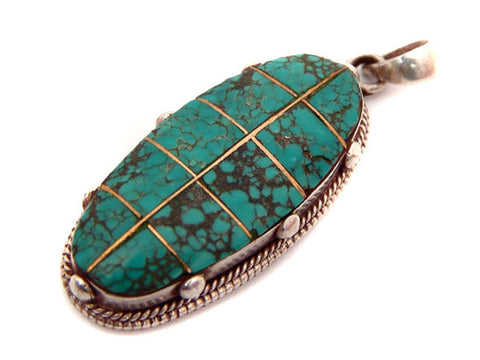 Turquoise Hung Mantra Pendant