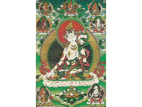 White Tara Folding Thangka