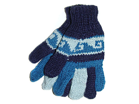 Colorful Wave Hand-Knitted Tibetan Woolen Glove