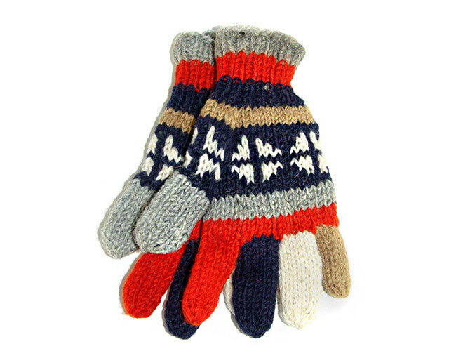 Everest Hand-Knitted Tibetan Woolen Mitten