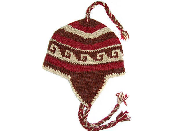 Ocean Wave Hand Knitted Tibetan Woolen Winter Hat