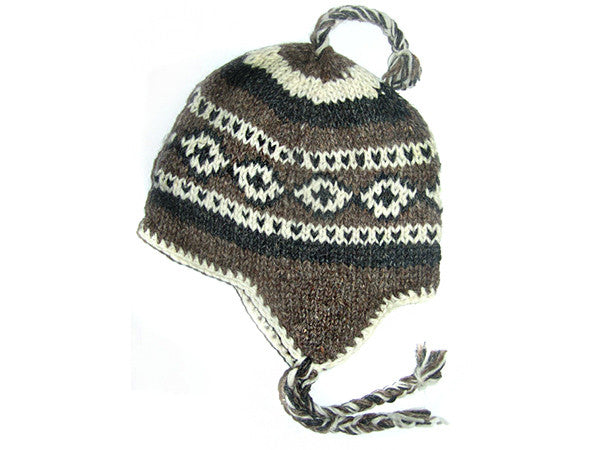 Yeti Tibetan Hand Knitted Woolen Winter Hat