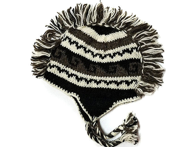 Wave Mohawk Hand Knitted Tibetan Woolen Winter Hat