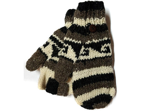 Wave Hand-Knitted Tibetan Glove Mitten