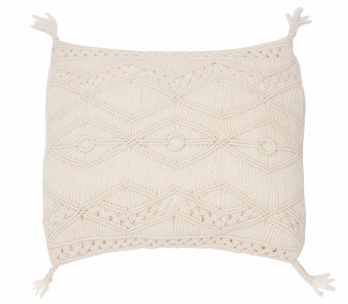 Tuva macrame cushion