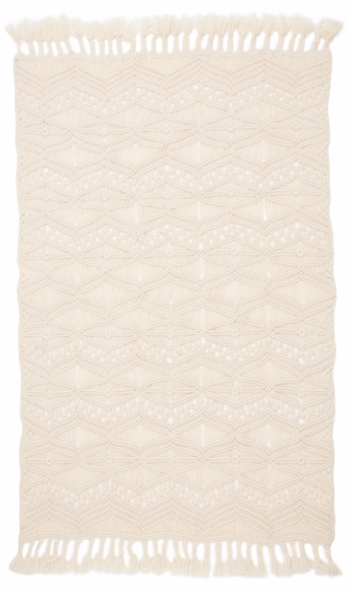 tuva macrame throw blanket