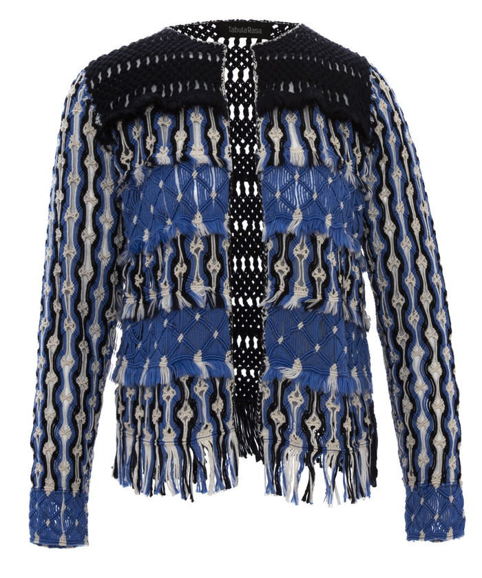 Anat Blue Macrame Jacket