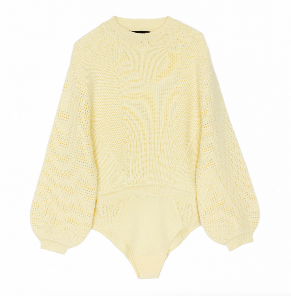 Dune Cashmere Bodysuit Sunshine Yellow