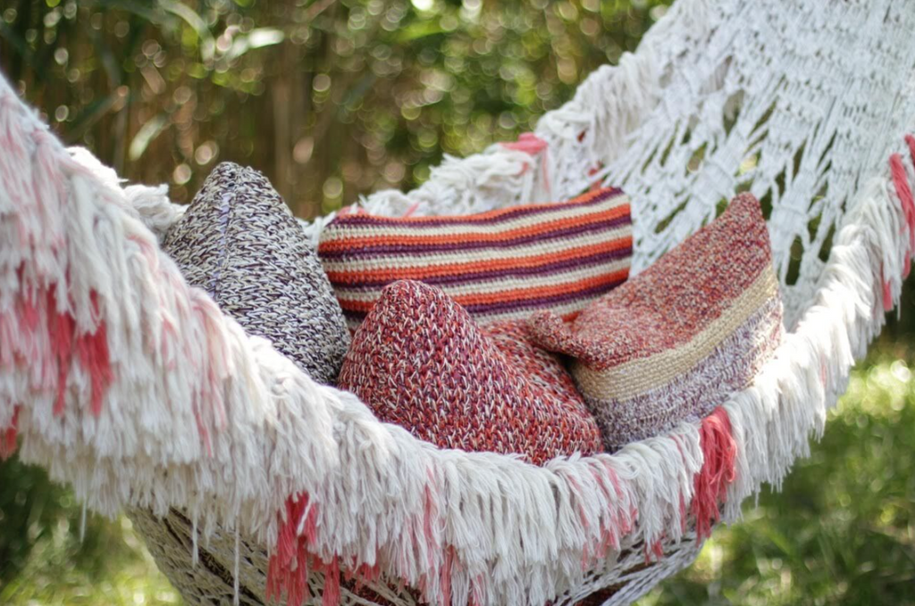 Mojave Crochet Cushion