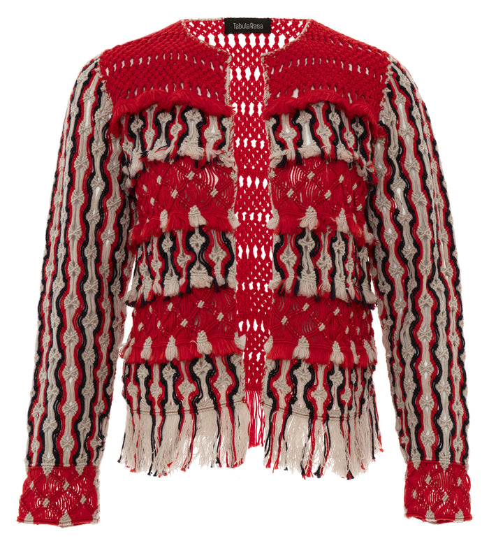Anat Red Macrame Jacket