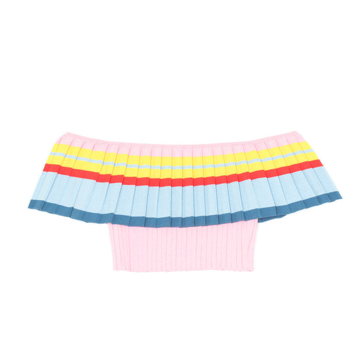 Toque Pleat Crop Top