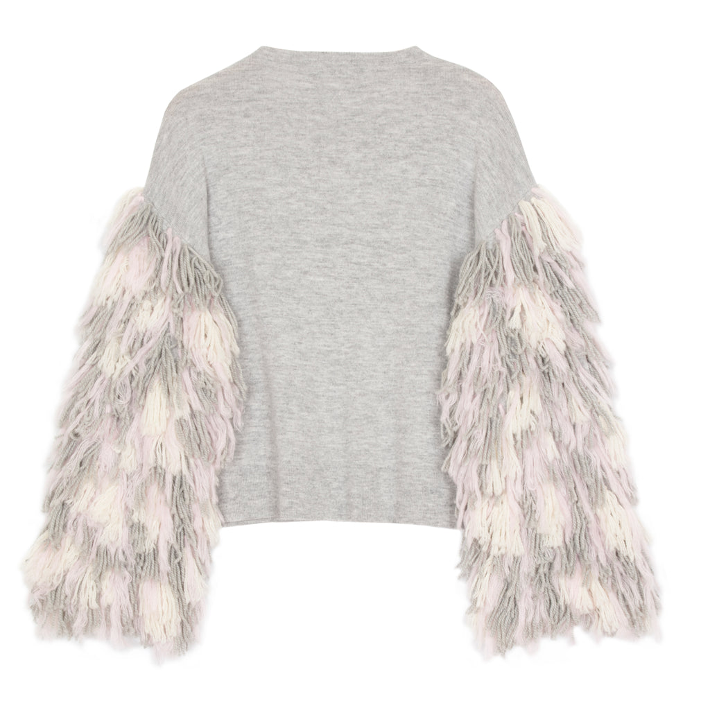 Berber Fringe Sleeve Sweater