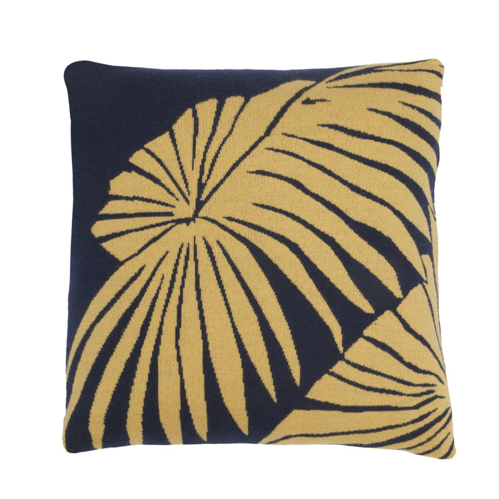 Loulan cushion navy and yellow