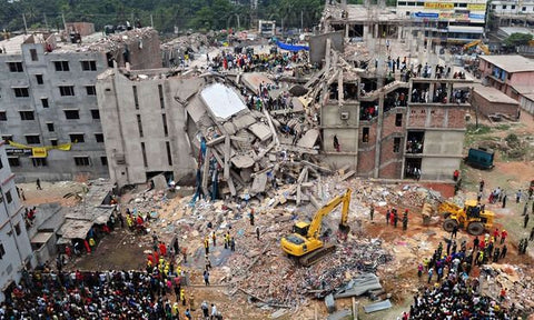 Image of the Rana Plaza building collapse