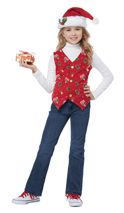 HOLIDAY VEST, RED/CHILD - The Halloween Spot