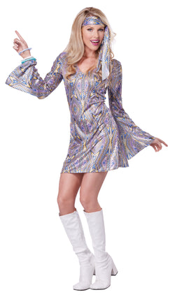 Women's Disco Sensation Adult Costume - The Halloween Spot