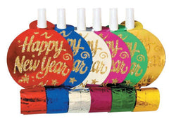 New Year Party  Assorted Color Blowouts 6 Ct.