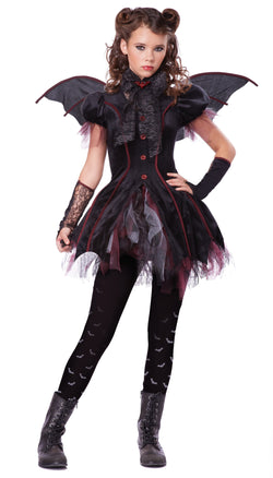 Girl's Victorian Vampiress Tween Costume