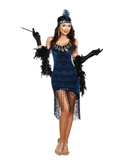 "Women's Roaring 20's Costume ""Downton Doll"" Costume Set - The Halloween Spot"