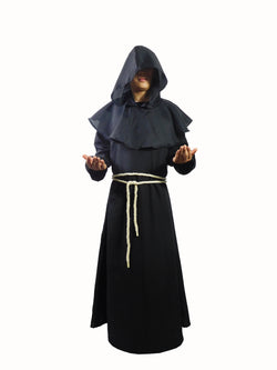 Adult Medieval Monk Hooded Robe Costume - The Halloween Spot