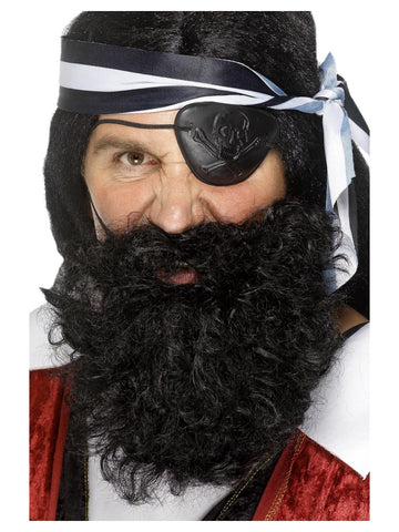 Black Nylon Deluxe Pirate Beard