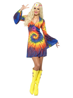Women's 1960s Tie Dye Costume - The Halloween Spot