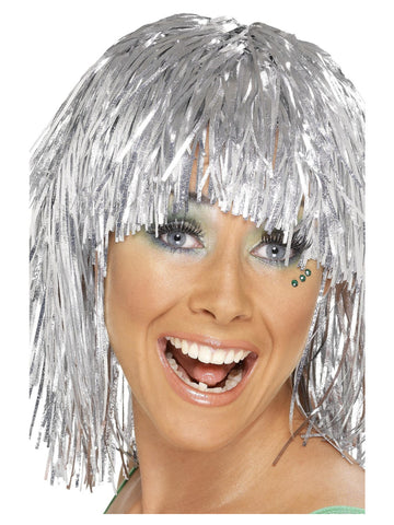 Cyber Tinsel Disco Wig