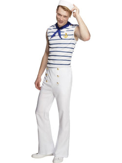 Men's Fever Male French Sailor Costume - The Halloween Spot