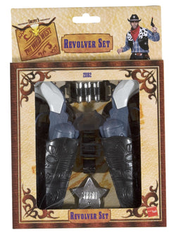 Grey colour Unisex Wild West Gun Set