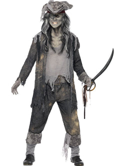 Men's Ghost Ship Ghoul Grey Costume Set