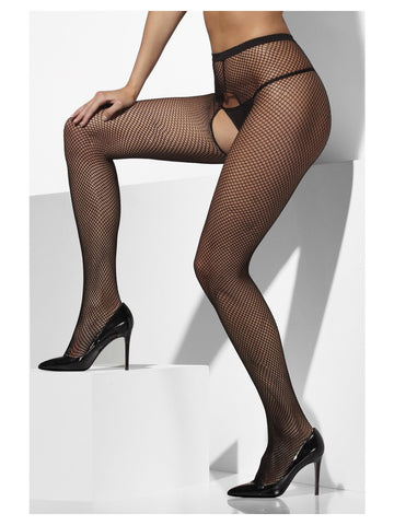 Fishnet Tights Crotchless