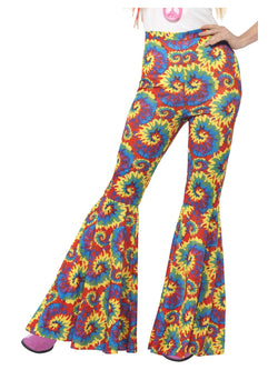 Multicolored Flared Ladies Trousers