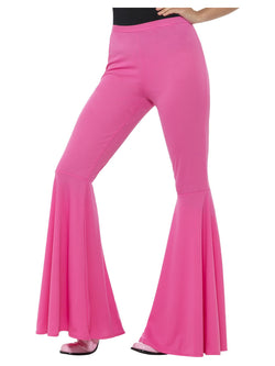 Pink Flared Trousers, Ladies