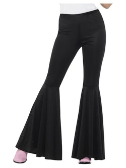 Ladies Black Flared Trousers