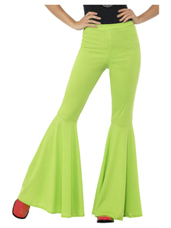 Green Flared Trousers for Ladies