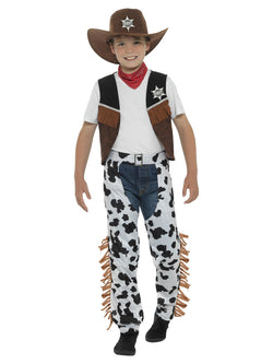 Boy's Texan Cowboy Costume brown colour
