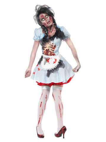 Women's Horror Zombie Countrygirl Costume