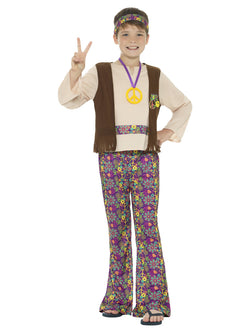 Boy's Hippie Boy Costume, with Top, Attached Waistcoat