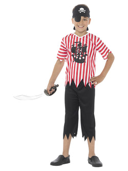 Red and White Jolly Pirate Boy Costume