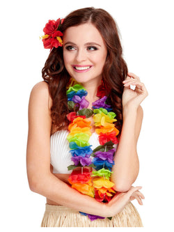 Bright Large Rainbow Lei