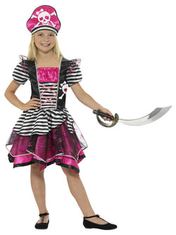 Black & Pink Perfect Pirate Girl Costume