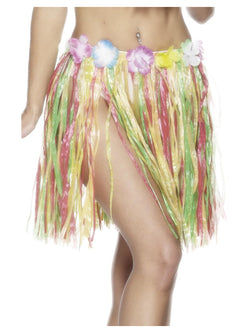 Multi-coloured Hawaiian Hula Skirt
