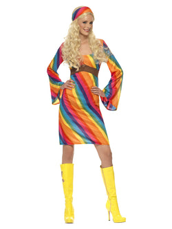 Women's Rainbow Hippie Costume