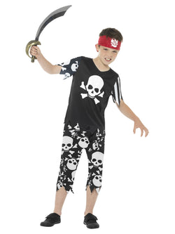 Black Rotten Pirate Boy Costume