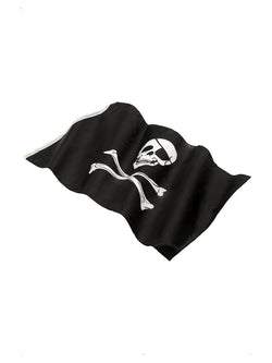 Black Pirate Flag with Skull & Crossbones Print