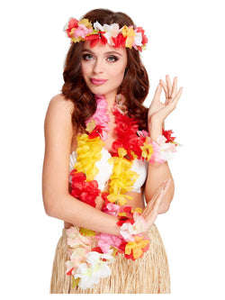 Deluxe Multi-Coloured Women's Hawaiian Set