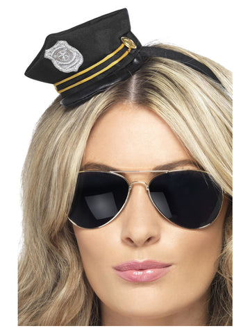 Mini Cop Black Hat with Badge
