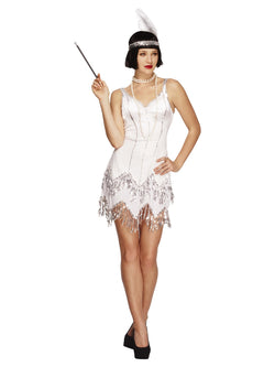 Women's Fever Flapper Dazzle White Costume