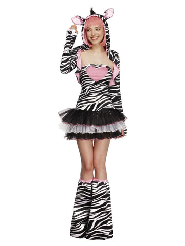 Women's Fever Zebra Costume, Tutu Dress