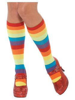 Rainbow Clown Socks, Unisex - The Halloween Spot
